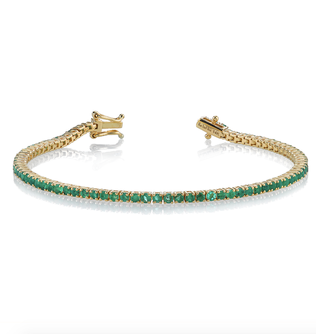 The Last Line Perfect Emerald Tennis Bracelet