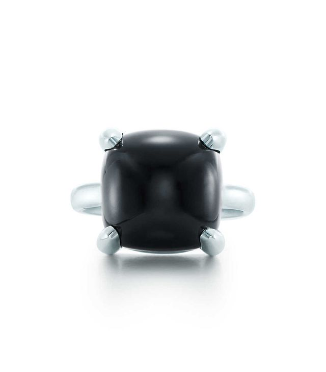 Tiffany & Co. Paloma's Sugar Stacks Ring in Sterling Silver and Black Onyx