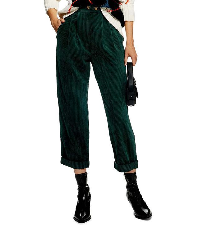 Topshop Corduroy Peg Trousers