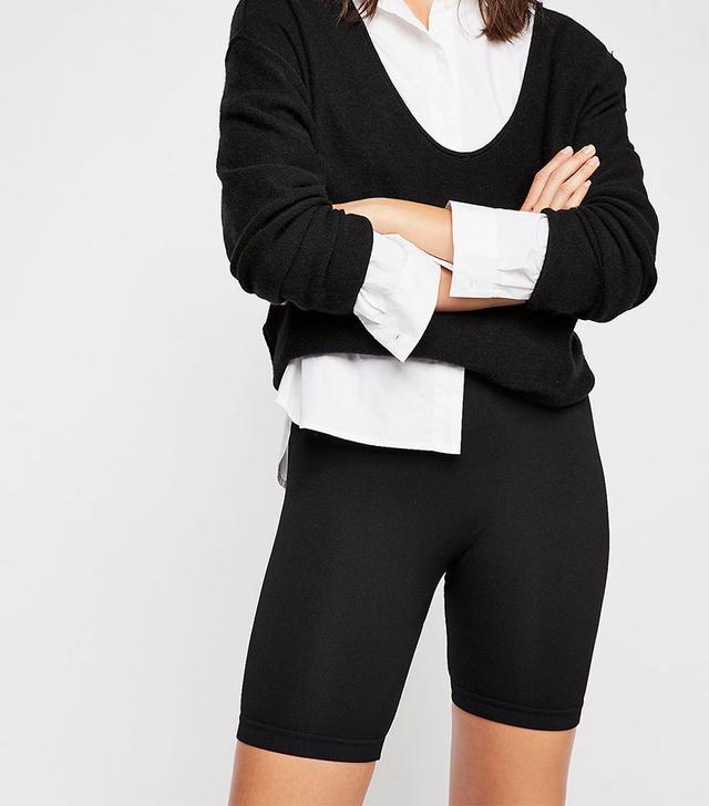 Free People Seamless Rib Biker Shorts