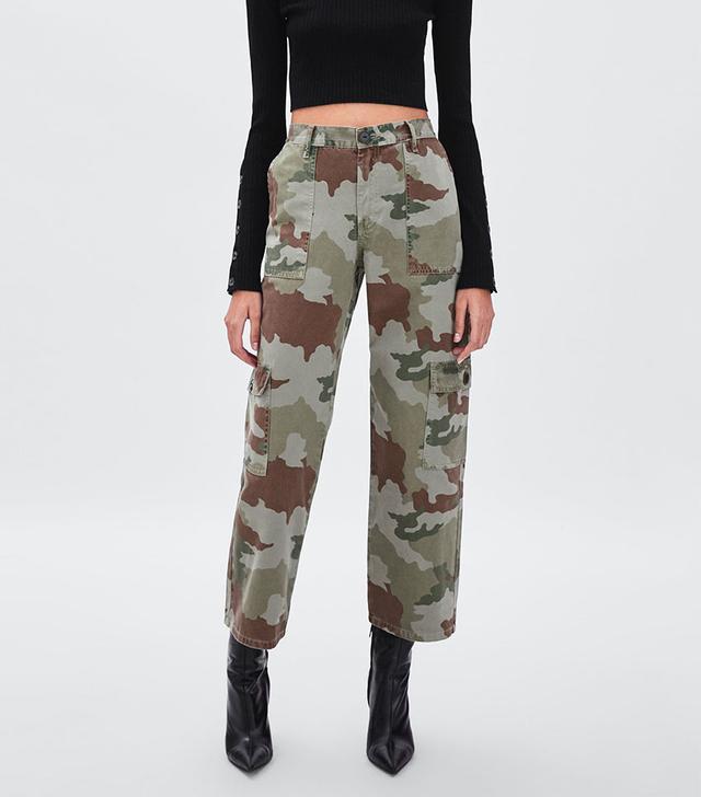 Zara Camo Cargo Pants
