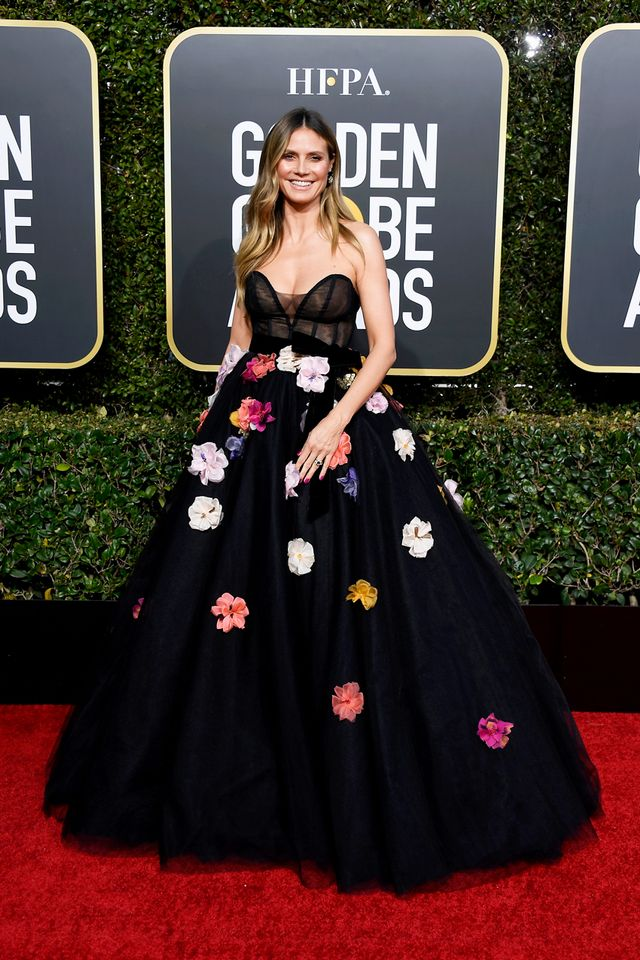 Heidi Klum at the 2019 Golden Globe Awards