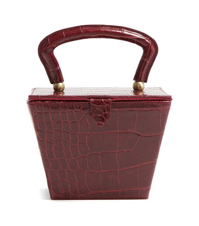 Staud Sadie Mini Crocodile-Effect Bag