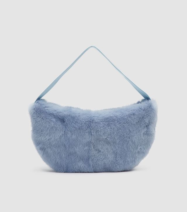 Saks Potts Betty Mink Bag in Baby Blue