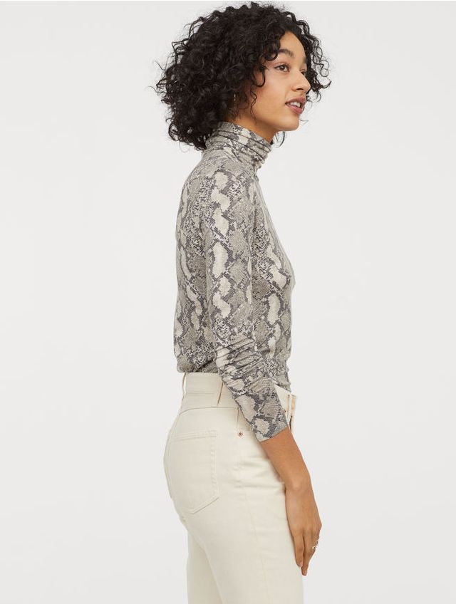 H&M Jersey Turtleneck Top