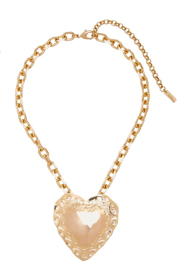 Fallon Gold-Plated Heart Necklace