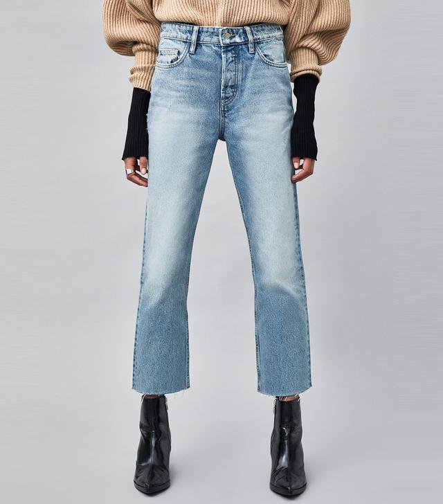 Zara Straight Cut Hi-Rise Authentic Jeans