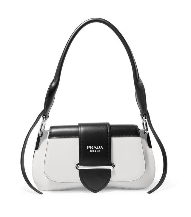 Prada Sidonie Two-Tone Leather Shoulder Bag