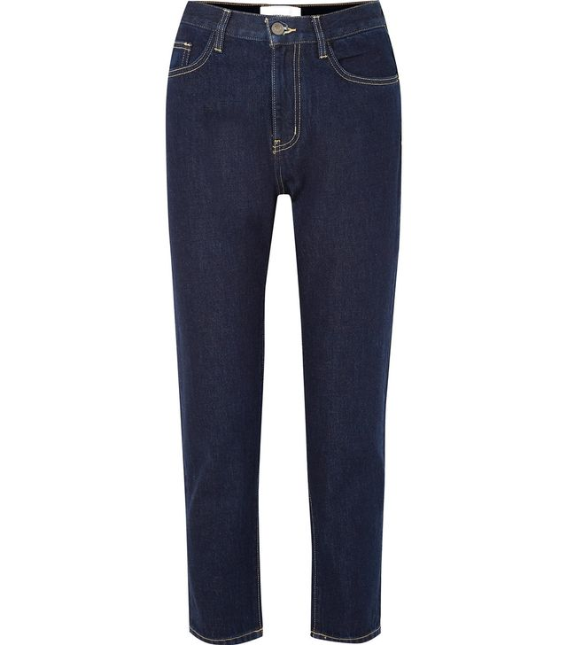 Current/Elliott The Vintage Crop High-Rise Straight-Leg Jeans