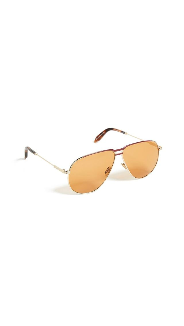 Victoria Beckham Jet Set Aviator Sunglasses