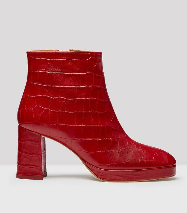 Miista Croc Leather Boots