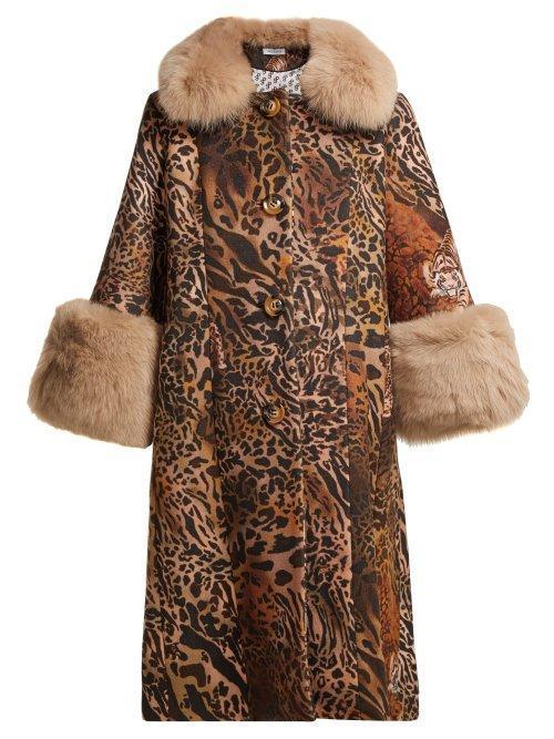Saks Potts Yvonne Leopard Print Wool Coat