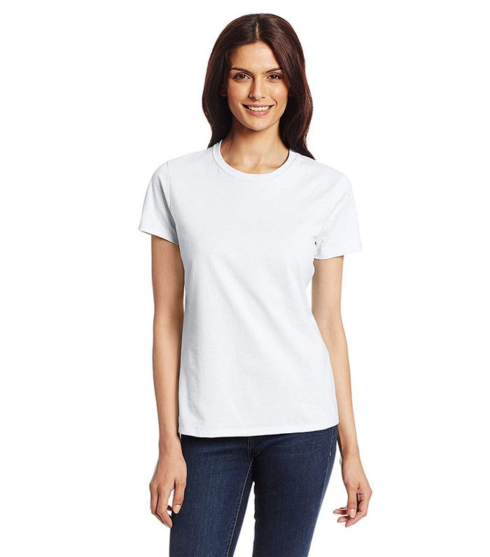 21b7d567232a8 15 Fashionable Ways to Wear a Basic White T-Shirt | Who What Wear