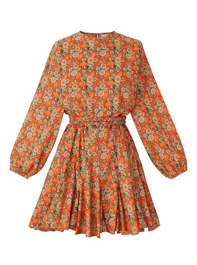 Rhode Resort Ella Dress in Tangerine Blossom