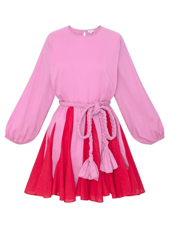 Rhode Resort Ella Dress in Prism Pink Colorblock