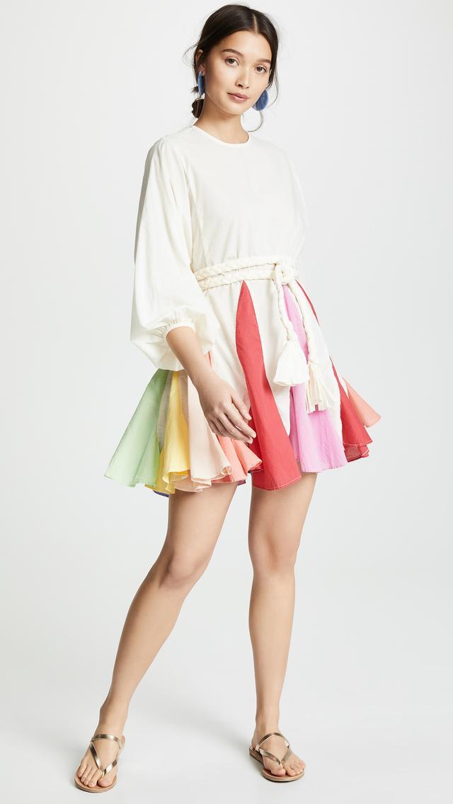 Rhode Resort Ella Dress in Rainbow Colorblock