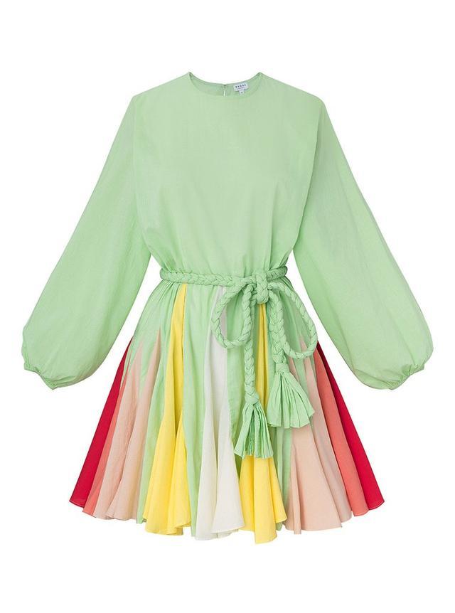 Rhode Resort Ella Dress in Mint Colorblock