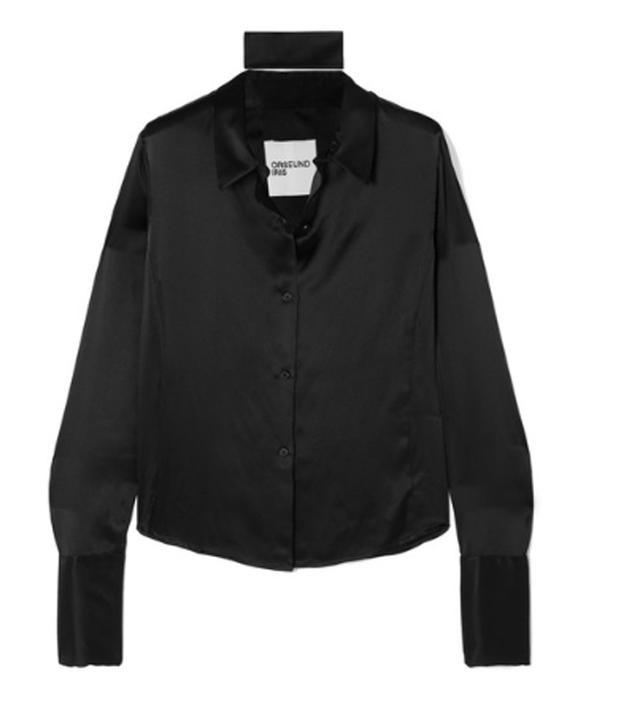 Orseund Iris Silk-Charmeuse Shirt
