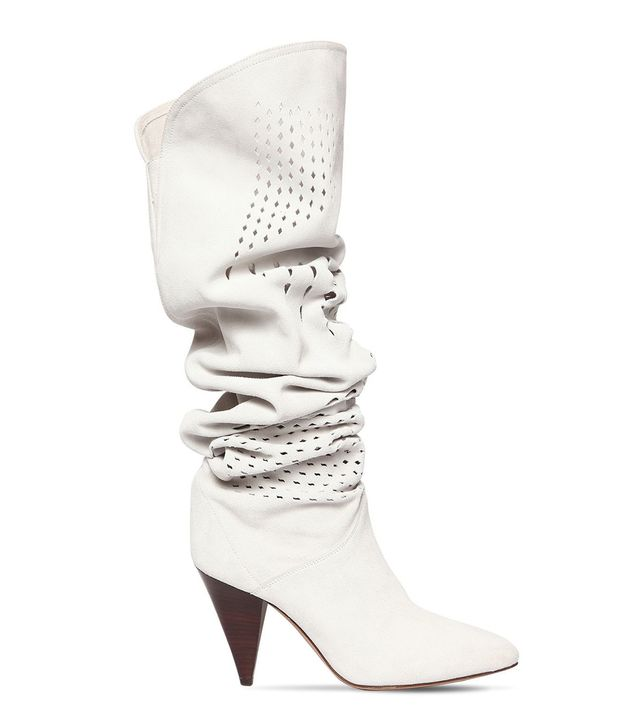 Isabel Marant Laser Cut Suede Slouchy Boots