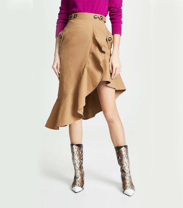 Self-Portrait Flounced Skirt