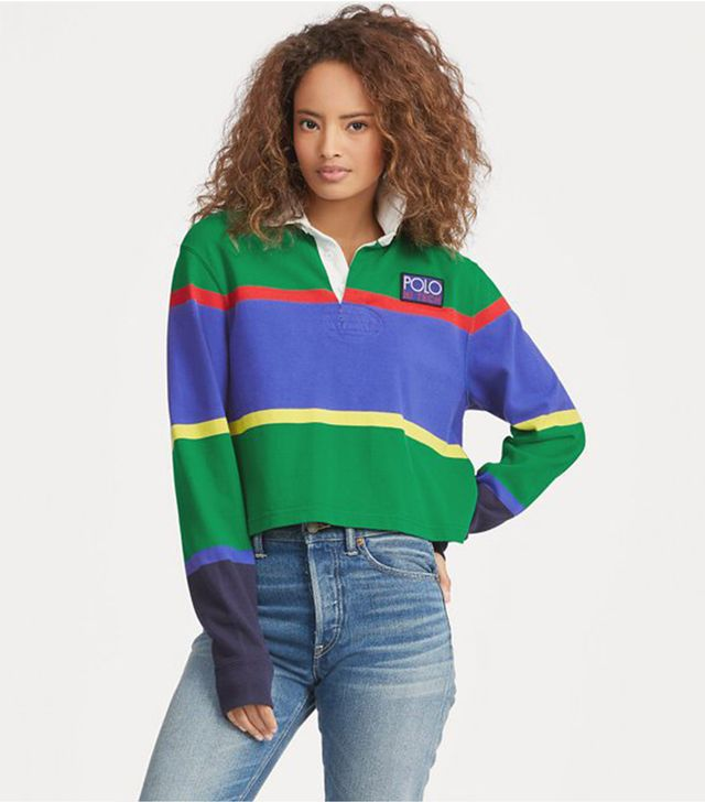 Polo Ralph Lauren Cropped Cotton Rugby Shirt