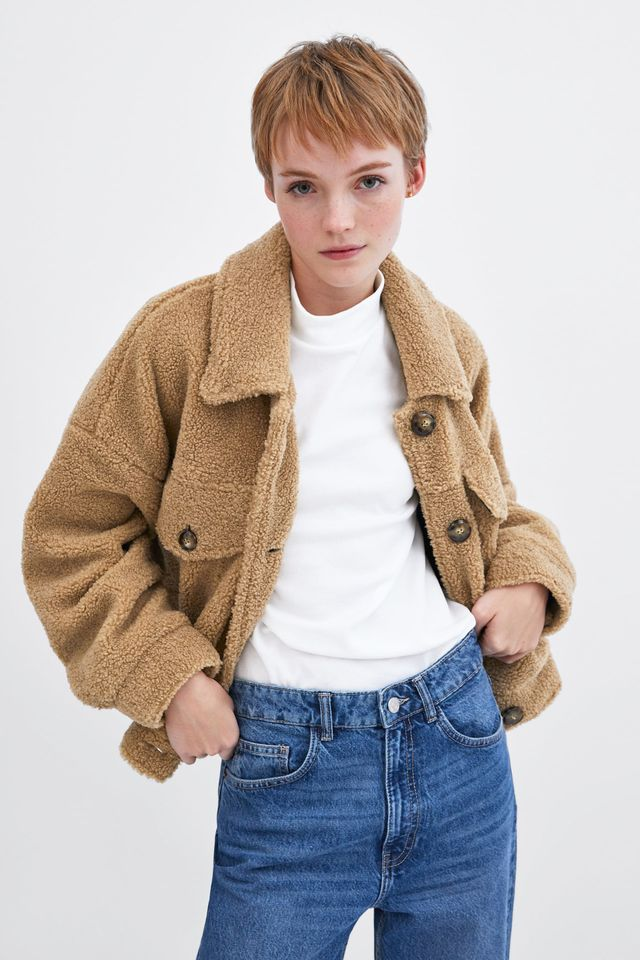 Zara Short Faux Shearling Jacket