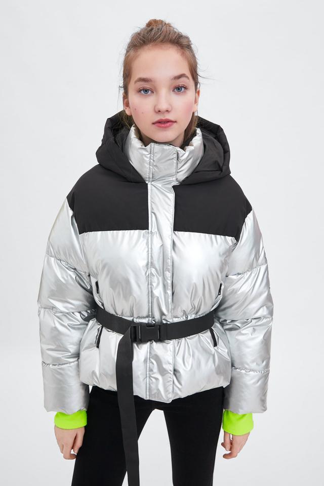 Zara Recycled Capsule Puffer Jacket