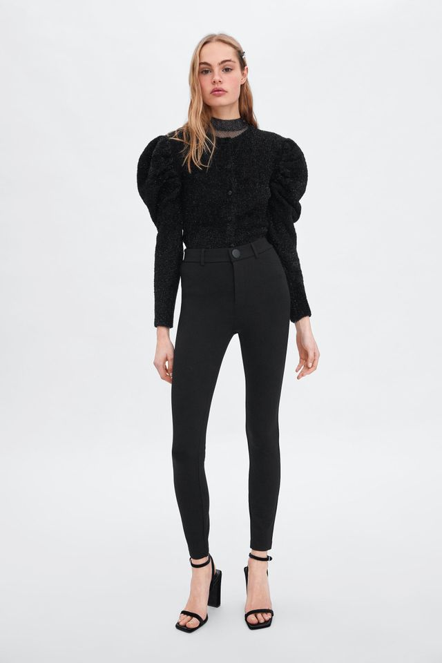 Zara High-Waisted Buttoned Leggings