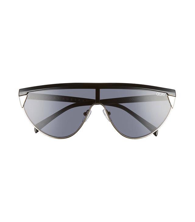 Quay Australia x Elle Ferguson Goldie 48mm Shield Sunglasses