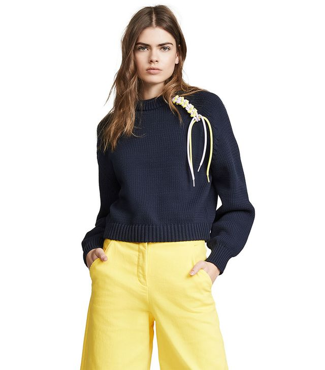 Tibi Oversized Cropped Pullover