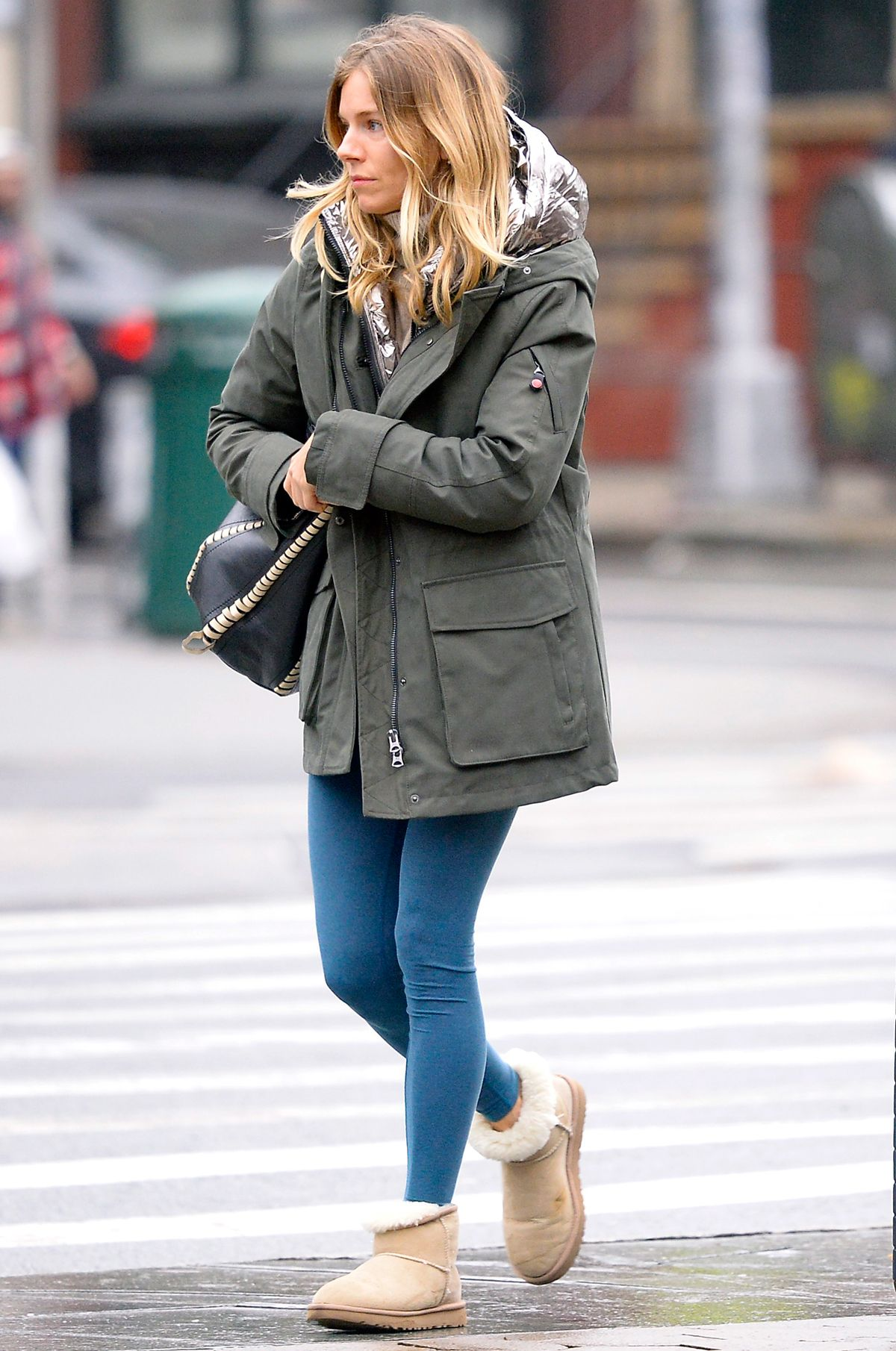 3c75e7ddfbf4b The Sienna Miller Way to Style Ugg Boots With Leggings | WhoWhatWear.com |  Bloglovin'