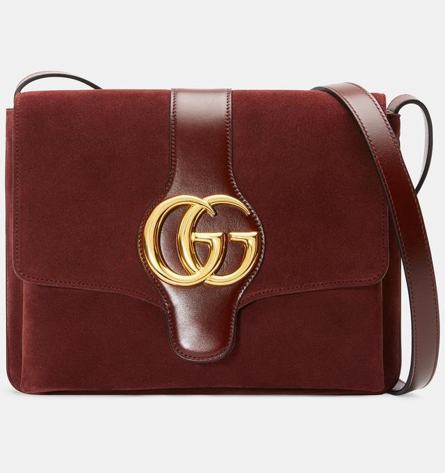 Gucci Arli Medium Shoulder Bag in Bordeaux Suede
