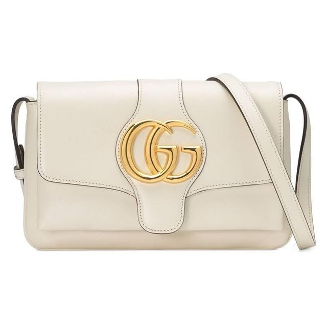 Gucci Arli Small Shoulder Bag in White Leather