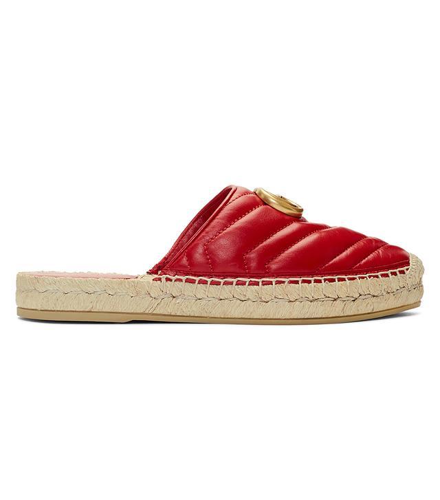 Gucci Red Charlotte Slip-On Espadrilles