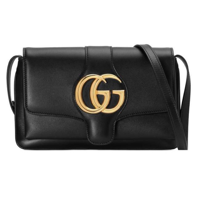 Gucci Arli Small Shoulder Bag in Black Leather