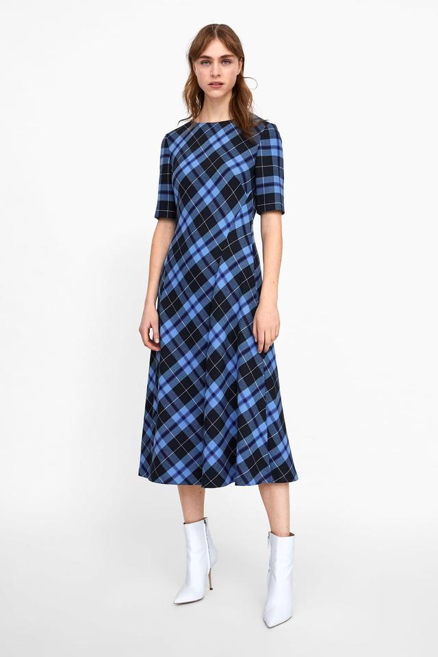 Zara Plaid Print Dress