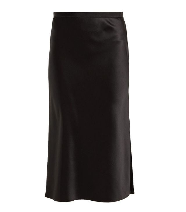 Joseph Hurst Silk-Satin Skirt