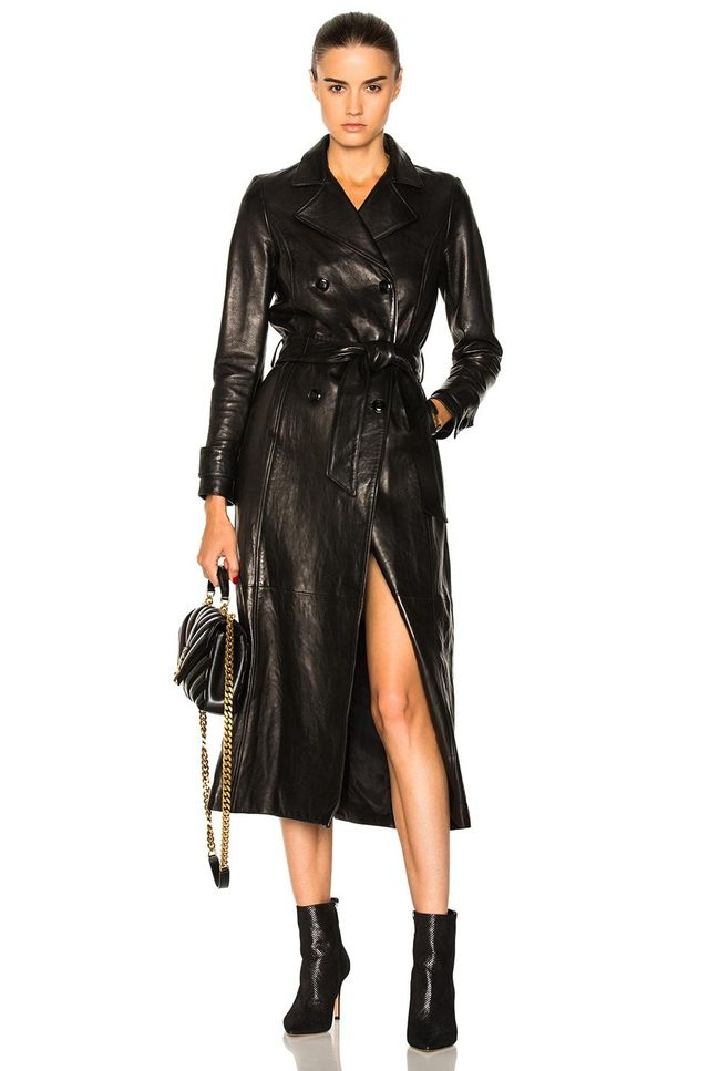 Frame for FWRD Leather Trench Coat