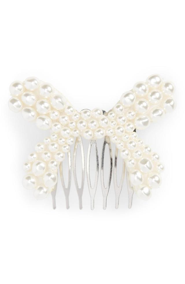 Simone Rocha Imitation Pearl Bow Hair Comb
