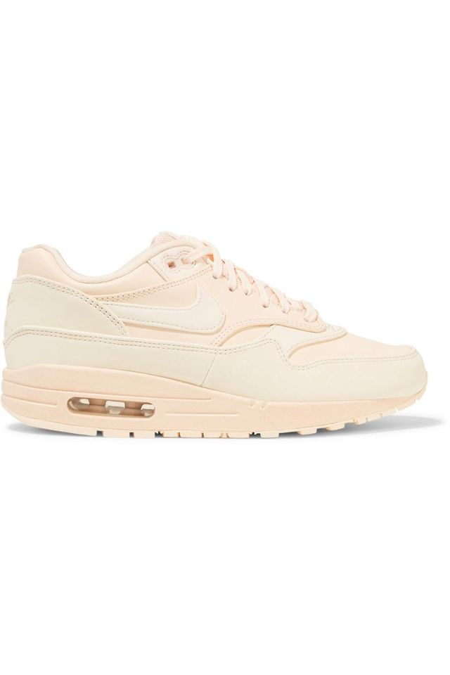 Nike Air Max 1 Reflective Logo-Print Leather And Canvas Sneakers