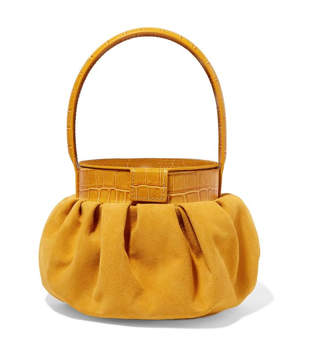 Regina Pyo Chef Suede and Croc-Effect Leather Tote