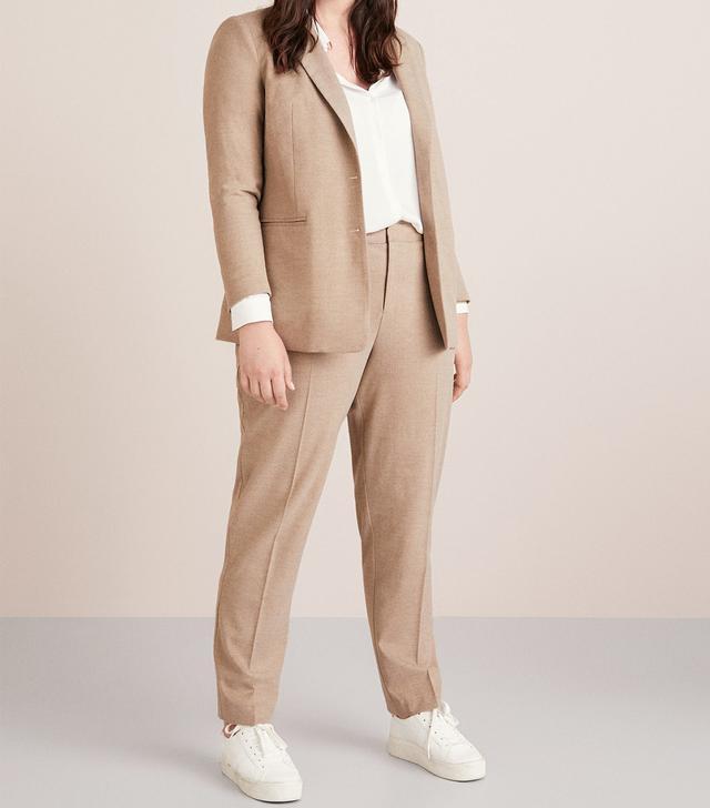 Violeta Straight Textured Trousers
