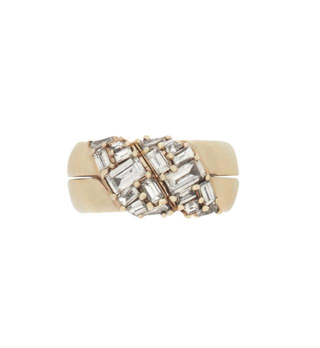 Marla Aaron Chubby Di Me Ring with Diamonds