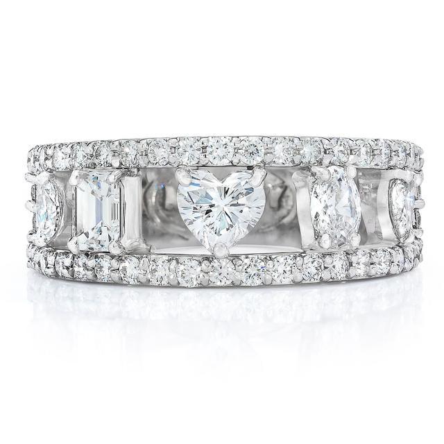 Mindi Mond Fancy Cut 5 Stone Ring