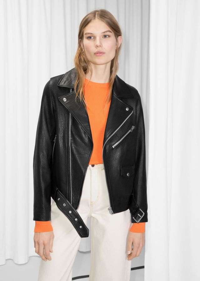 & Other Stories Leather Biker Jacket
