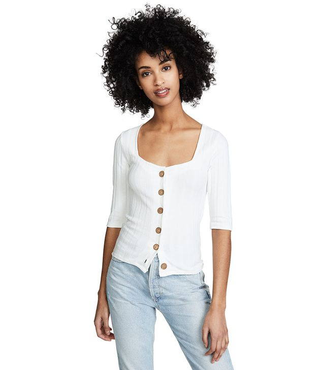 Free People Central Park Cardi Tee