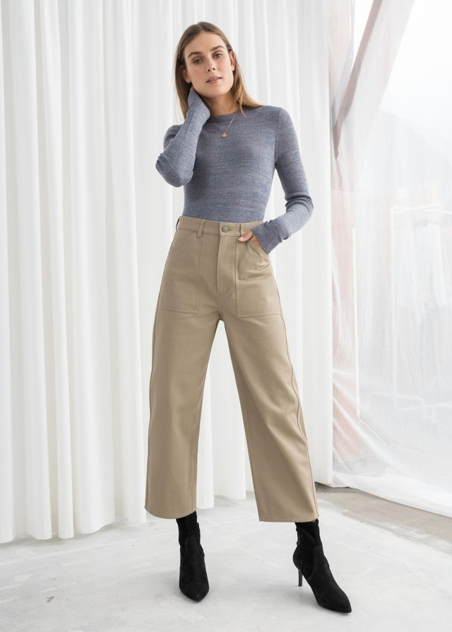 & Other Stories Workwear Culotte Pants