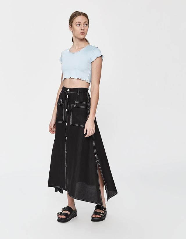 Maryam Nassir Zadeh Ines Contrast Stitch Skirt