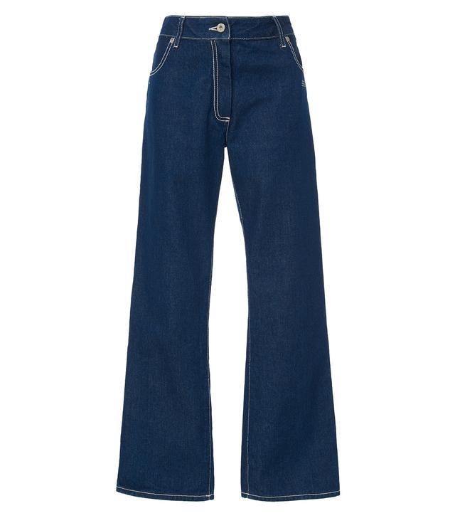 Off-White c/o Virgil Abloh Mid-Rise Flared Wide-Leg Jeans