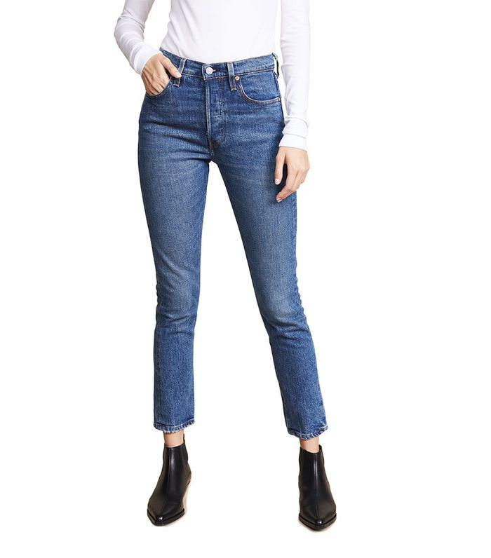 7 Outfits With Skinny Jeans And Black Ankle Boots Who What Wear